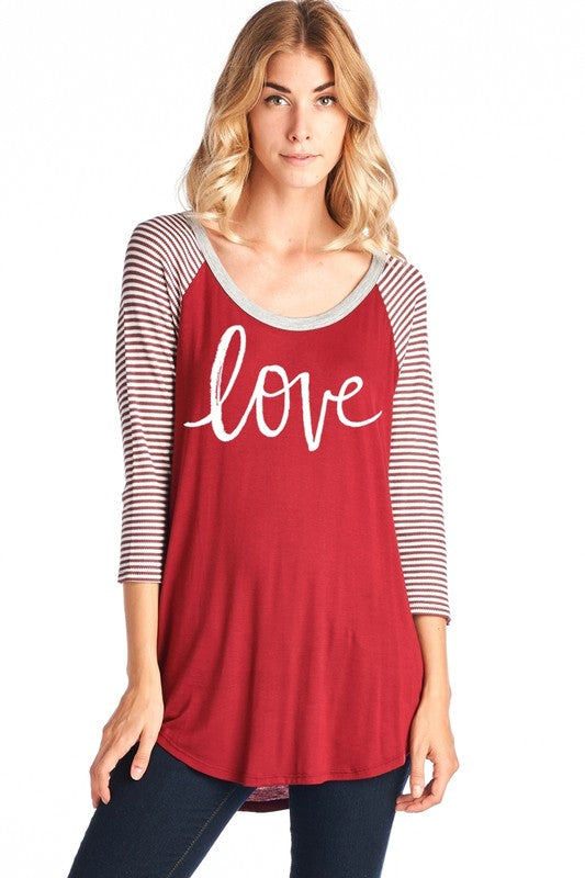The Love 3/4 sleeve - Comfy and Chic Boutique