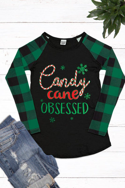 """Candy Cane Obsessed"" Tee"