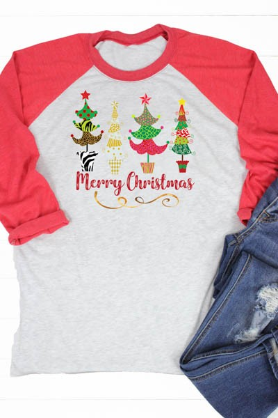 Merry Christmas Tree Raglan - Comfy and Chic Boutique