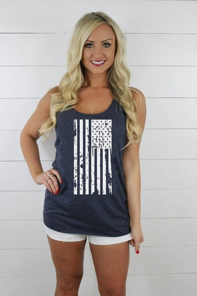 Distressed Flag Tank - Comfy and Chic Boutique