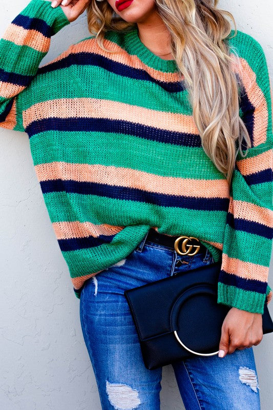 The Sadie Striped Sweater - Comfy and Chic Boutique