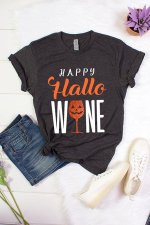 Hallo WINE Tee - Comfy and Chic Boutique