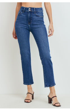 Double Button Straight Leg Jeans - Comfy and Chic Boutique