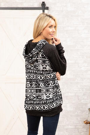The Aztec Knit Hoodie - Comfy and Chic Boutique