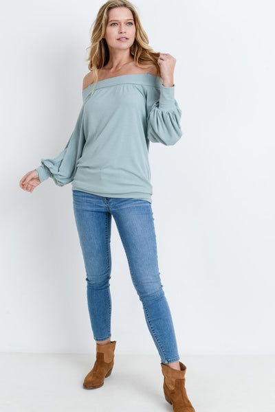 The Heather Off-the-Shoulder top - Comfy and Chic Boutique