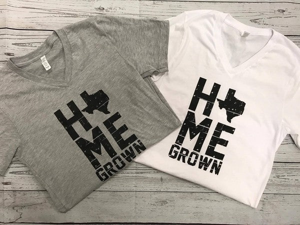 Home Grown Texas V-Neck Tee - Comfy and Chic Boutique