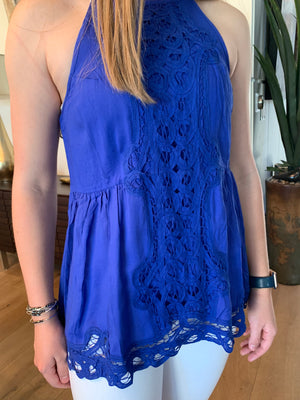 Lace Crochet Halter - Comfy and Chic Boutique