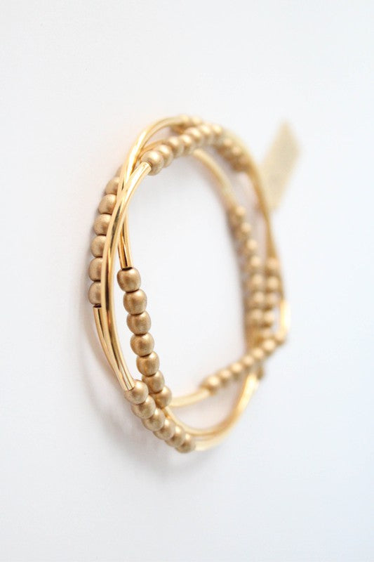 Cecelia Gold Triple Wrap Bracelet - Comfy and Chic Boutique