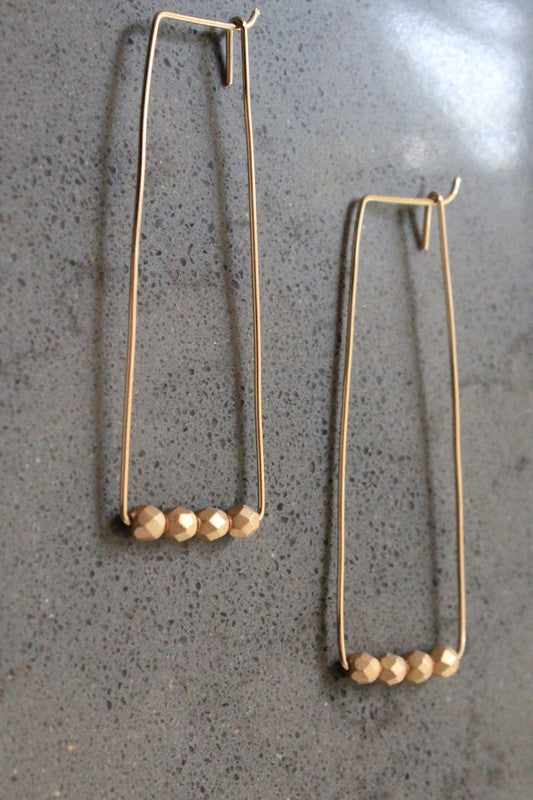Cecelia 12k Gold Rectangle Hoop Earrings - Comfy and Chic Boutique