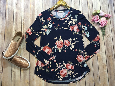 The Julia floral top in two colors