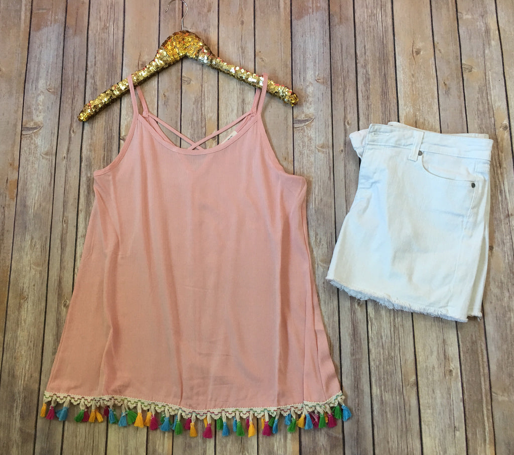 The Summer tank in blush - Comfy and Chic Boutique