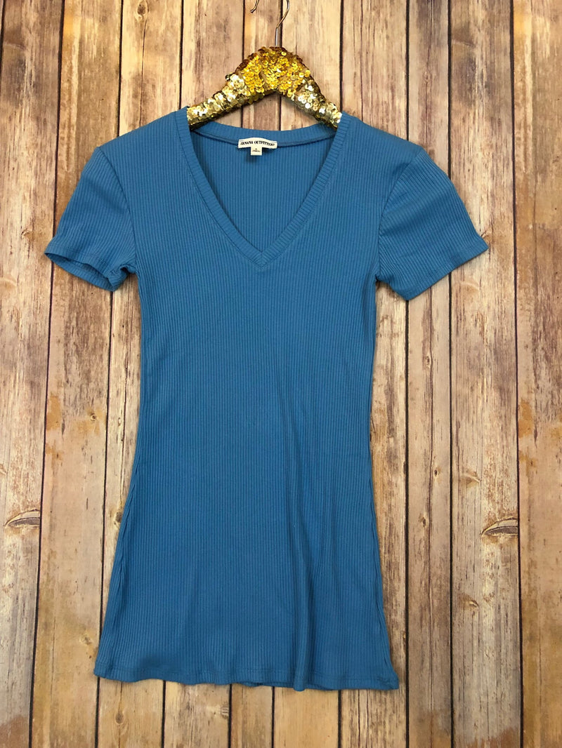 The Ocean Blue Essential Tee - Comfy and Chic Boutique