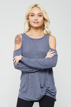 The Marley Top in navy - Comfy and Chic Boutique