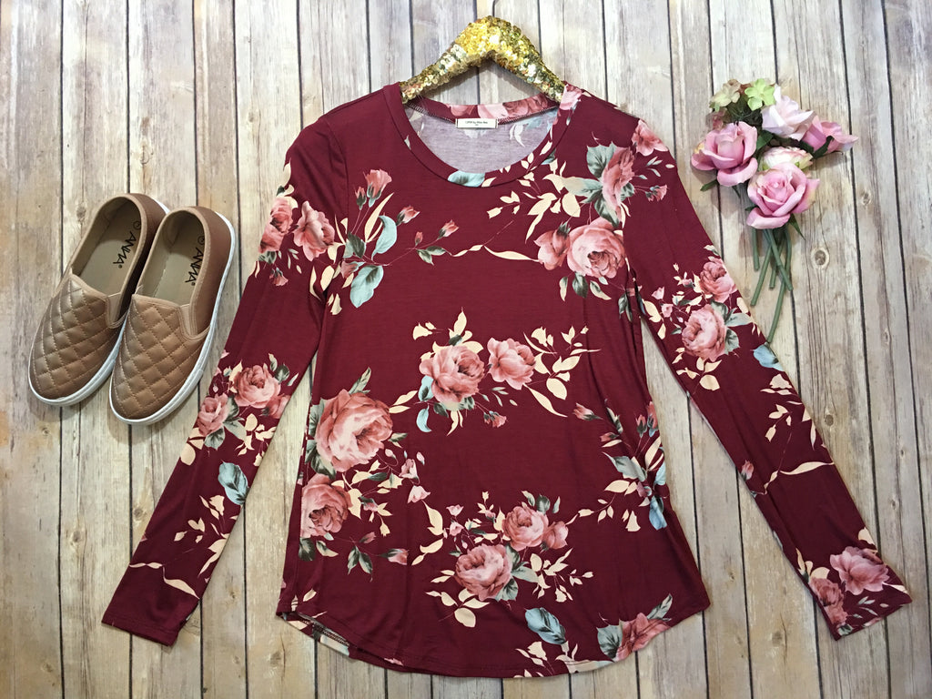The Julia Floral Top in two colors - Comfy and Chic Boutique