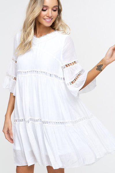 The Bell Sleeve Babydoll dress - Comfy and Chic Boutique