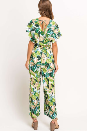Tropical Kimono Sleeve Jumpsuit - Comfy and Chic Boutique