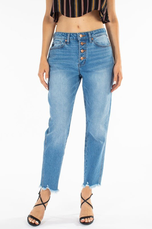 Mid-rise Relaxed Jeans - Comfy and Chic Boutique
