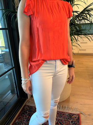 Ruffle Sleeve Top - Comfy and Chic Boutique