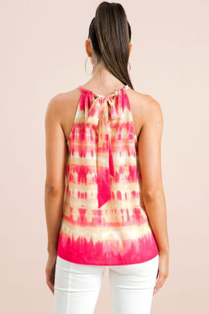 Flying Tomato- Tie Dye Printed Halter Top - Comfy and Chic Boutique