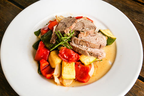 Roast Lamb w/ ratatouille - Wholesomeness
