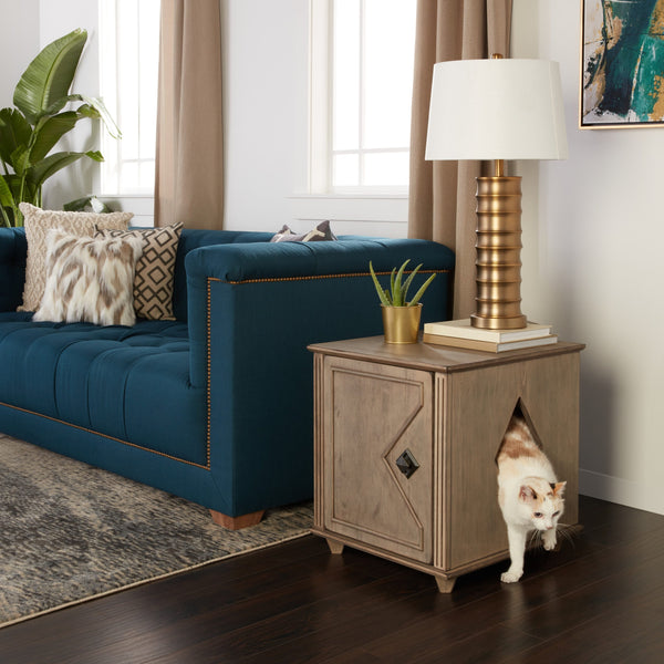 cat litterbox end table