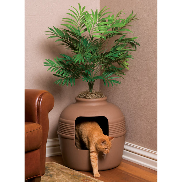 hidden cat litter planter