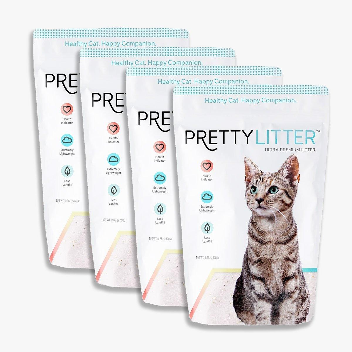 One Month of PrettyLitter Health Monitoring Clumping Cat Litter for Four Cats