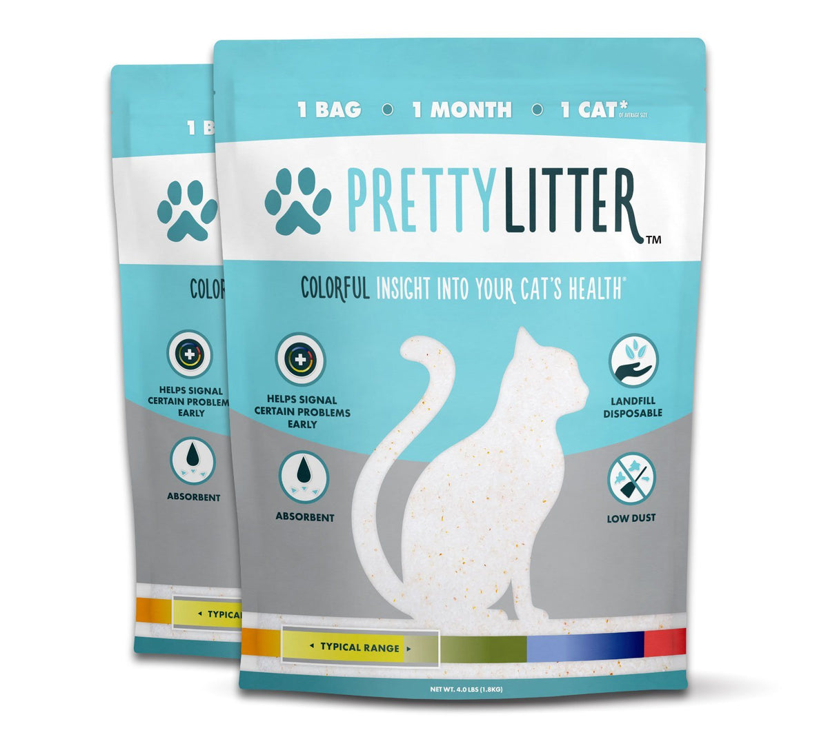 Two Bags of Pretty Litter™ Health Monitoring Cat Litter - PrettyLitter