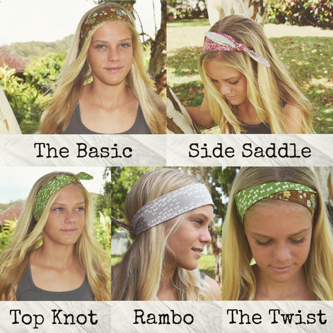how to wear a bandana head band
