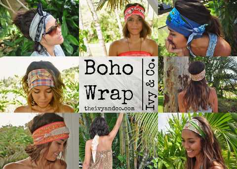 how to style a bohemian head wrap