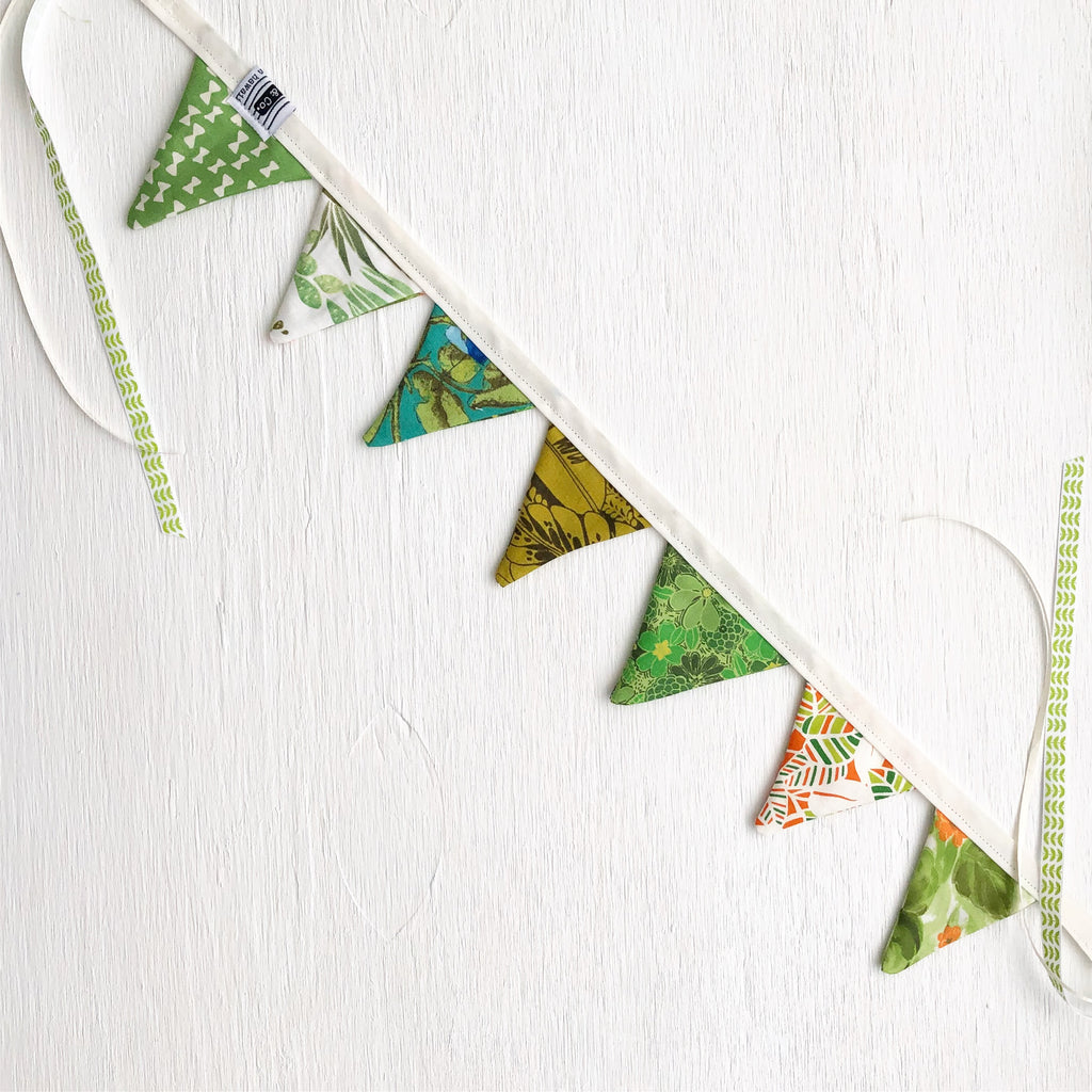 Mini Bunting - Emerald City