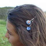Vintage Button Hair Pins - Do The Polka