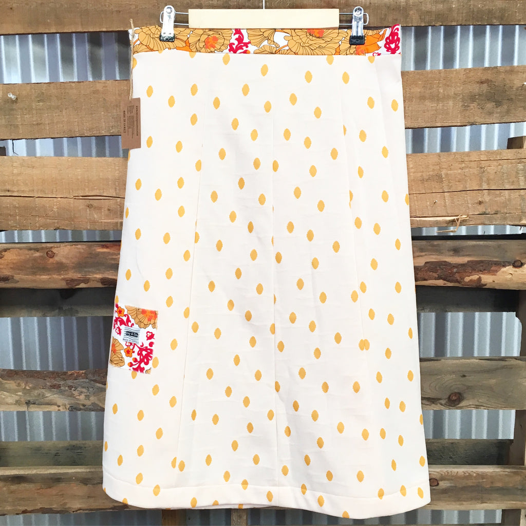 Vintage Mu'umu'u Skirt - Mod Dot - Medium - SALE