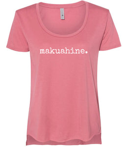 makuahine. (mother) scoop neck T-Shirt - ADULT Sizes - 3 Colors