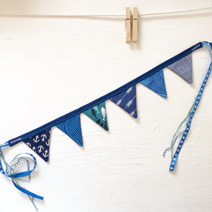 Mini Bunting - Anchor Blue