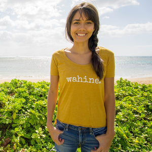 wahine. LADIES scoop neck T-Shirt - ADULT Sizes