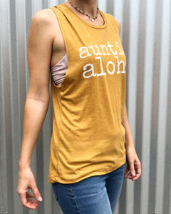 auntie aloha Muscle Tank Top - ADULT Sizes