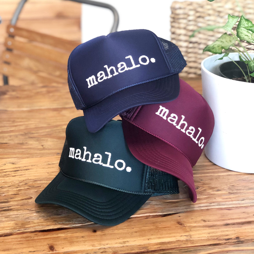 mahalo. hat - TODDLER, CHILD & ADULT sizes - various colors