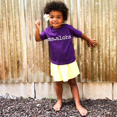 ms. aloha T-Shirt - TODDLER Sizes - 2 colors