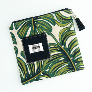 Zipper Clutch - Monstera