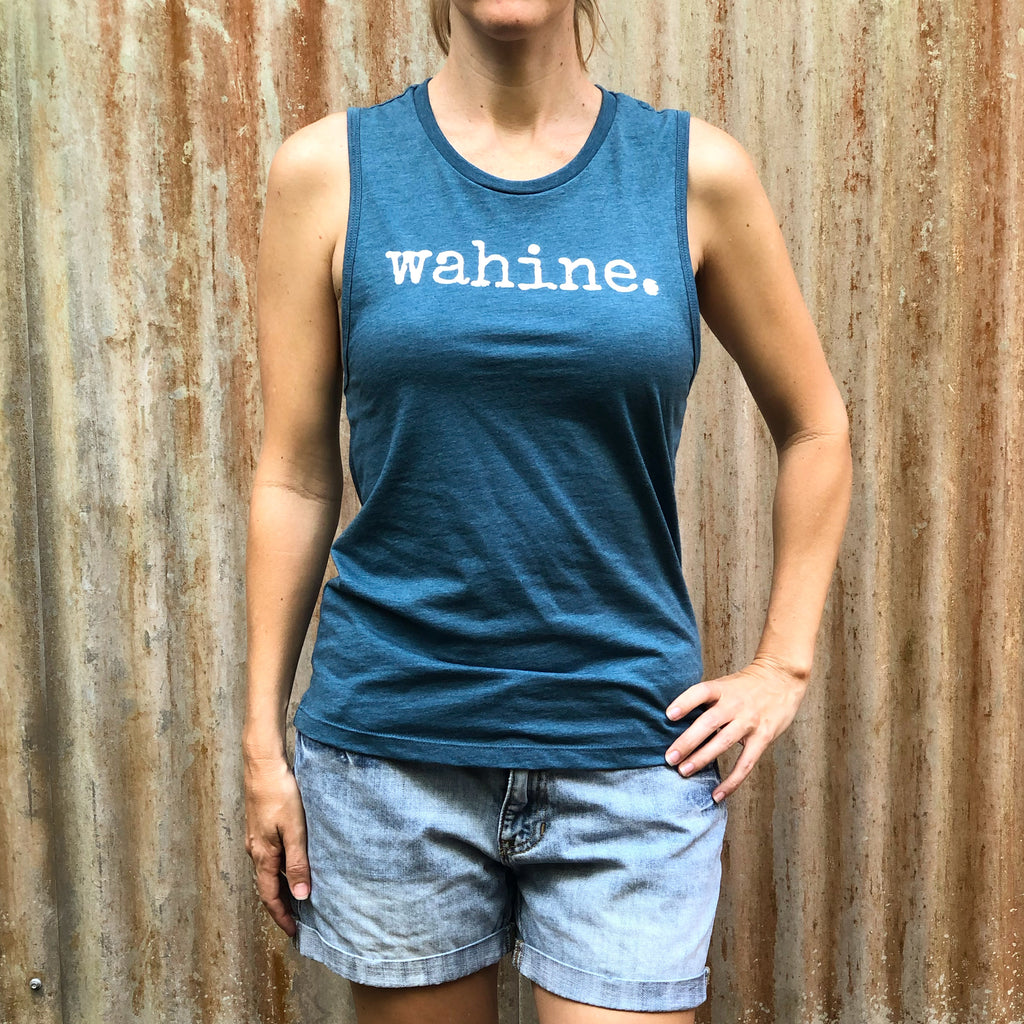 wahine. Muscle Tank Top - ADULT Sizes