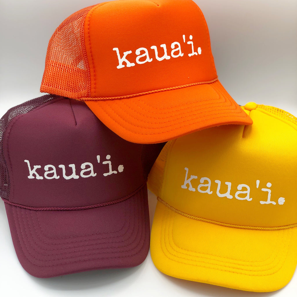 kaua'i. hat - TODDLER, CHILD & ADULT sizes - various colors