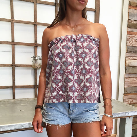 Peek-A-Boo Strapless Top - Ono - Size Small