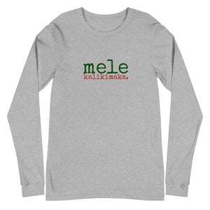 Mele Kalikimaka (Merry Christmas) Unisex Adult Long Sleeve Tee - Made To Order