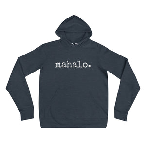 mahalo. Hoodie - Unisex ADULT - Made To Order
