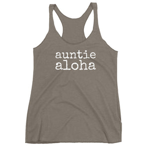 auntie aloha - Women's Racerback Tank - Made to Order