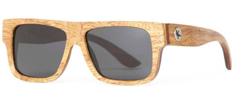 Proof Meridian Premium Ebony Wood Rectangular Sunglasses - Proof India