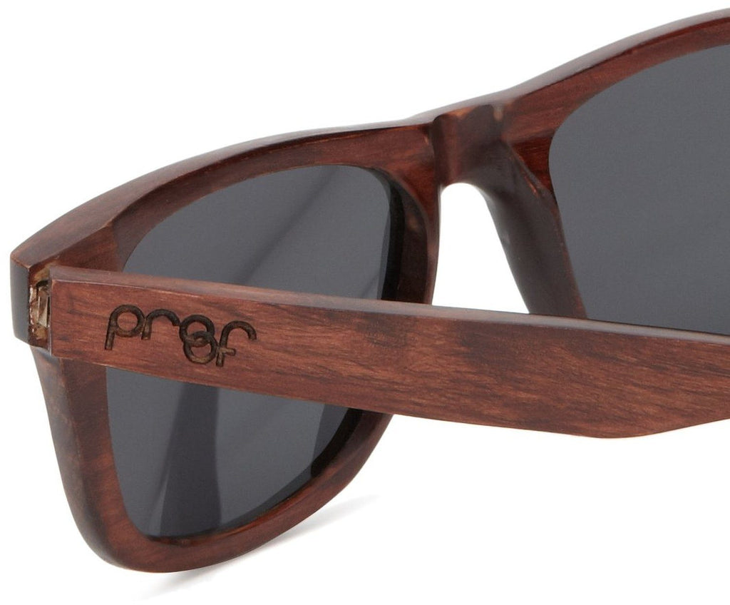 Proof Ontario Mahogany Wood Wayfarer Sunglasses - Proof India