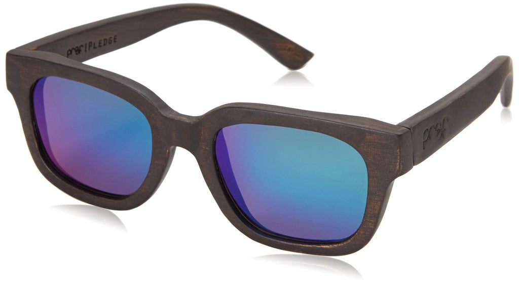 Proof Pledge Black Maple Kush Wood Rectangular Sunglasses - Proof India