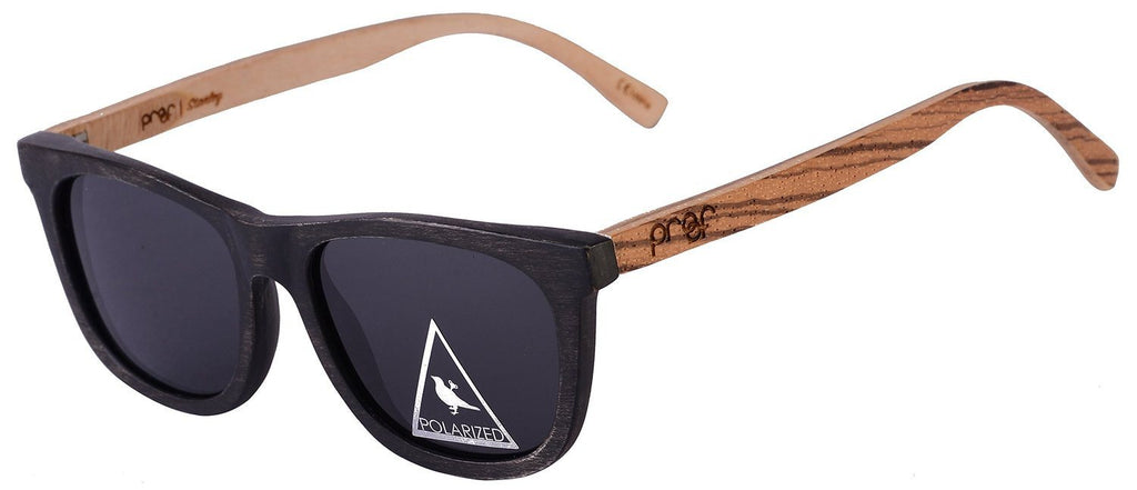 Proof Stanley Black Maple Zebra Wood Sunglasses - Proof India